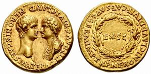 300px-Nero_Agrippina_aureus_54